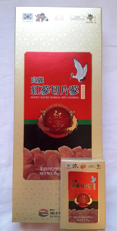 Korean Honeyed Red Ginseng Slice Gold